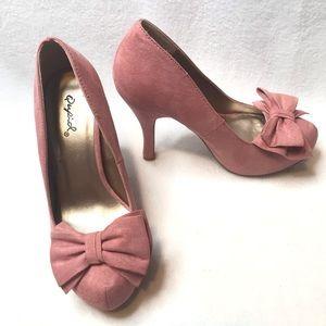 Qupid Pink Platform Heels